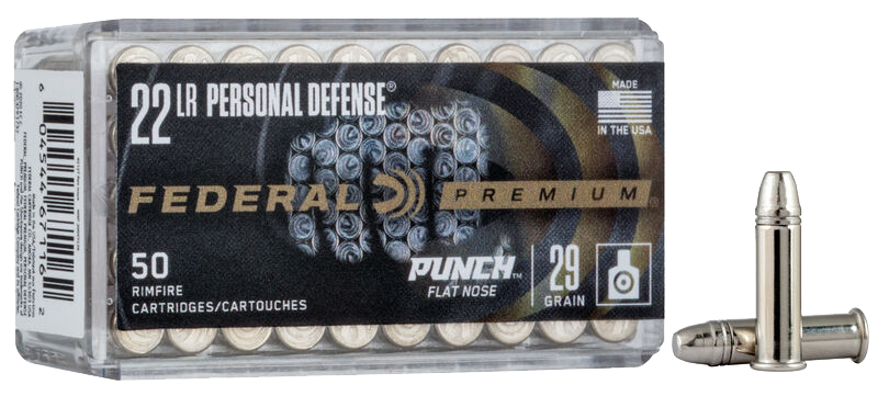 Federal 500 rounds of New Personal Defense Punch Rimfire 22 LR