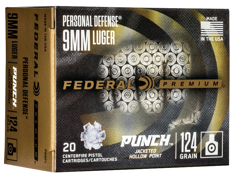 Federal 200 rounds of Personal Defense Punch 9mm Luger