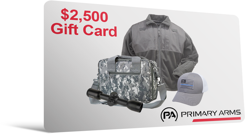 Primary Arms $2,500 Gift Card